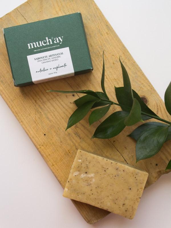 Sabonete esfoliante de Erva-Príncipe e Gengibre